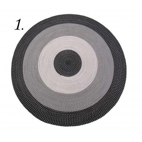 Dywan sznurkowy Master koło - czarny