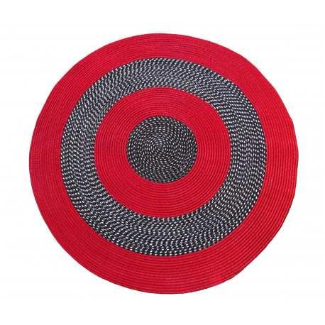 Dywan sznurkowy Master koło - czerwony