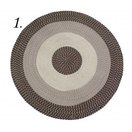 Dywan sznurkowy Master koło - brązowy
