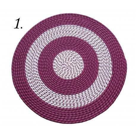 Dywan sznurkowy Master koło - fioletowy
