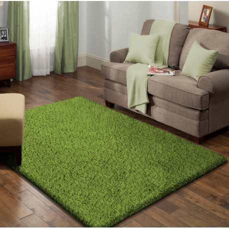 Dywan shaggy jednolity zielony