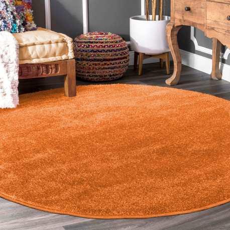 Dywan Porto Koło Jednolity Pomarańczowy Homecarpets
