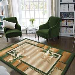 Dywan nowoczesny pokojowy Carving 02 - zielony