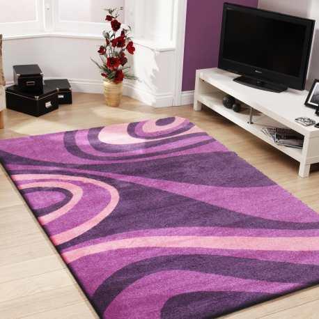 Dywan do pokoju nowoczesny Fashion 05 - fioletowy
