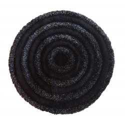 Dywanik pluszowy Ragdoll koło 90cm czarny