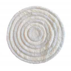 Dywanik pluszowy Ragdoll koło 90cm biały