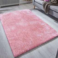 Dywan typu shaggy Meri - różowy pudra