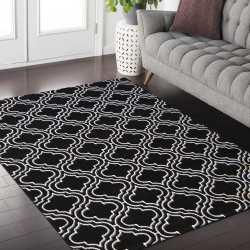 Dywan nowoczesny Sala 01 maroko czarno biały