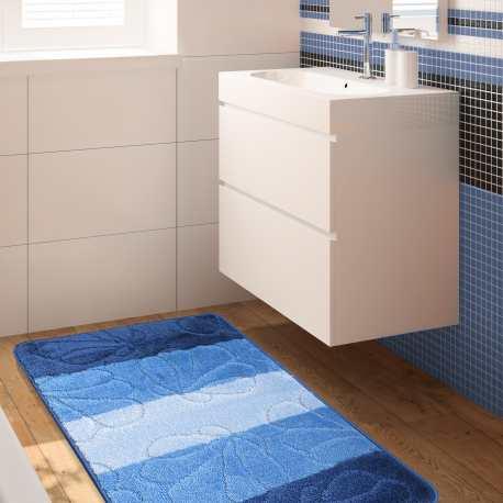 Komplet łazienkowy Monti 01 niebieski antypoślizgowy