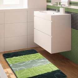 Komplet łazienkowy Monti 01 zielony antypoślizgowy