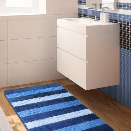 Komplet łazienkowy Monti 02 niebieski antypoślizgowy