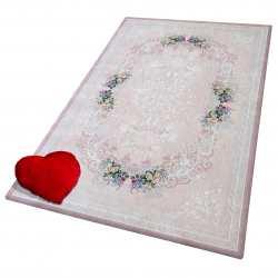 Pokrowiec na dywan 01 pudrowy różowy