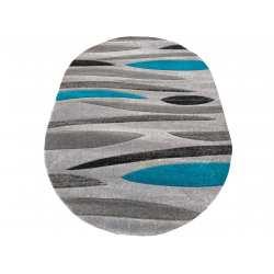 Dywan owalny Fashion 01 szaro-turkusowy