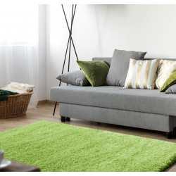 Dywan shaggy comfort soft zielony do pokoju, salonu