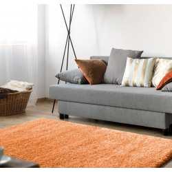 Dywan shaggy comfort soft pomarańczowy do pokoju, salonu