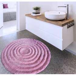 Dywanik pluszowy koło 90cm różowy