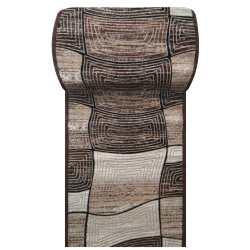 Chodnik dywanowy Fashion 06 - brązowy- szerokość 120 cm