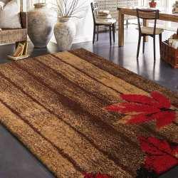 Dywan Fashion 01 brązowy liście