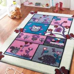 Dywan dla dzieci zwierzęta kremowy 04 kremowy