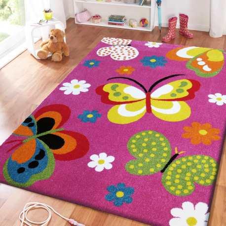 Dywan dla dzieci Bambi 14 Motyle fioletowe