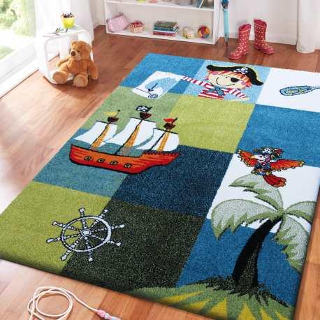 Dywan dla dzieci Bambi 01 Piraci - niebieski