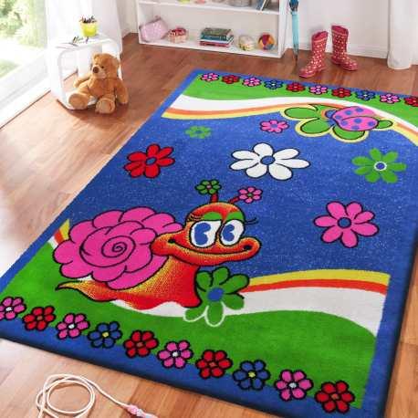 Dywan dla dzieci ślimak Smyk 01 - niebieski