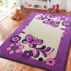 Dywan dla dzieci Smyk 14 - fioletowo-kremowy