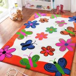 Dywan dla dzieci Smyk 03 - pomarańczowy mozaika
