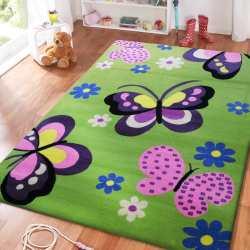 Dywan dla dzieci Smyk 17 - zielony motyle