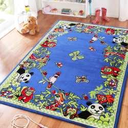 Dywan dla dzieci Smyk 13 - niebieski dżungla