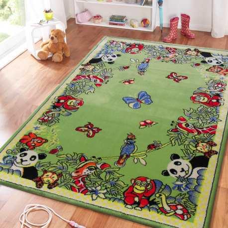 Dywan dla dzieci Smyk 13 - zielony dżungla