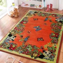 Dywan dla dzieci Smyk 13 - pomarańczowy dżungla