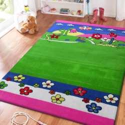 Dywan dla dzieci Smyk 09 - zielono-różowy