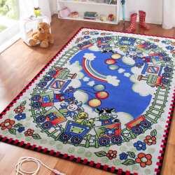 Dywan dla dzieci Kids 11 - kremowo-niebieski