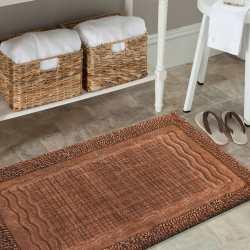 Dywaniki łazienkowe komplet Madryt 01N brązowy
