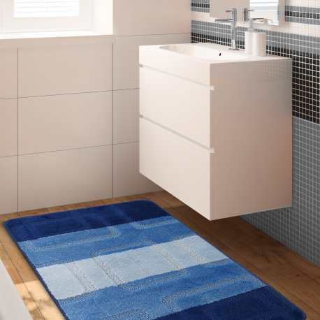 Komplet łazienkowy Monti 04N niebieski antypoślizgowy