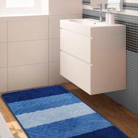 Komplet łazienkowy Monti 03N niebieski antypoślizgowy