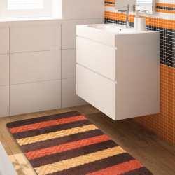 Komplet łazienkowy Monti 02 brązowy antypoślizgowy