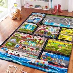 Dywan dla dzieci Mini Kids 01 Miasto
