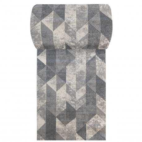 Chodnik dywanowy VIZA 01 - szary - szerokość od 60 cm do 120 cm