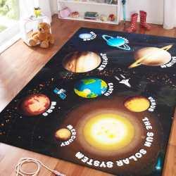 Dywan dla dzieci Mini Kids 11 czarny układ słoneczny