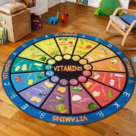 Dywan koło dla dzieci Mini Kids 01 witaminy
