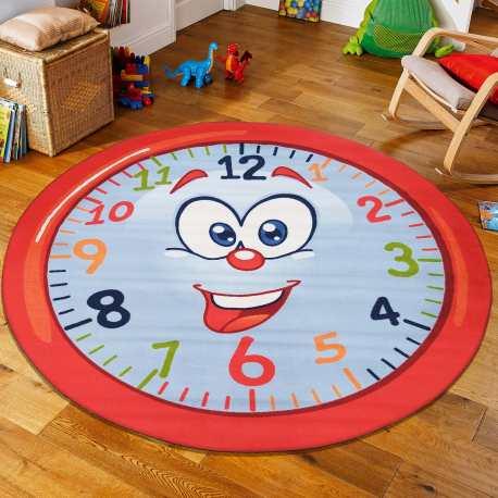 Dywan koło dla dzieci Mini Kids 05 zegar
