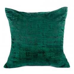 Poszewka dekoracyjna TAMARA kolor ciemny zielony butelkowy