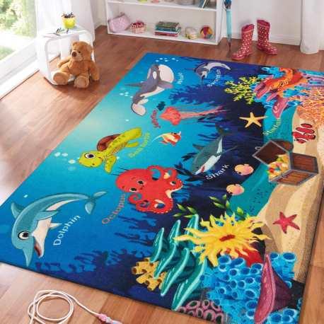 Dywan dla dzieci Mini Kids 12 ocean ryby