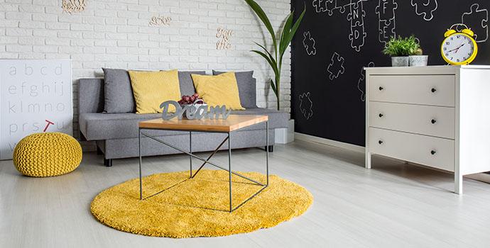dywan żółty