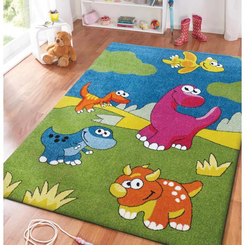dywan dla dzieci dinozaury